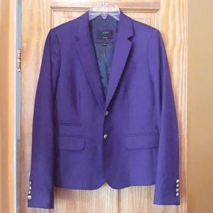 J.Crew Purple 100% Wool Schoolboy Blazer